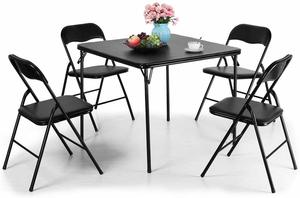 12. JAXPETY Folding Table and Chairs Set, 5-Piece