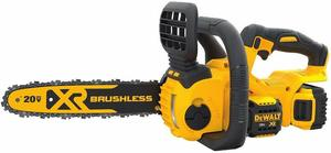 2. DEWALT DCCS620P1 Lithium-Ion Cordless Chainsaw Kit