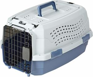 5. AmazonBasics Two-Door Top-Load Pet Carrier Kennel