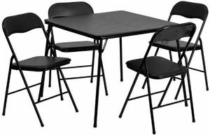 5. Flash Furniture Folding Card Table and Chair Set, 5 Piece