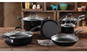 5. The Pioneer Woman Vintage Speckle Non-stick Cookware Set