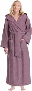 #1. Arus Classic Hooded Bathrobe for Women