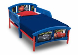 1. Delta Children Wood Toddler Bed, DisneyPixar Cars