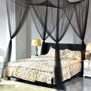 1. Goplus Mosquito Net, Large Queen Size Bed Curtain (Black)