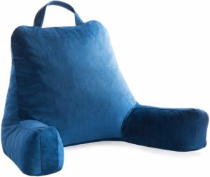#1. Linenspa Shredded Foam Rest Reading Pillow - Perfect for Back Support
