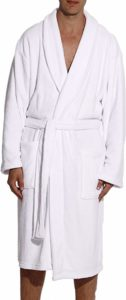 #10. Follow me Ultra Soft Plush Robe for Men with Shawl Collar