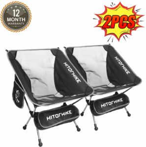 #10. Hitorhike Camping Backpacking Chair Breathable Mesh
