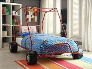 10. Twin Car Bed Red Metal Dune Buggy Frame