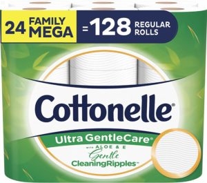 #10.Cottonelle Ultra Gentlecare 2-Pack Toilet Paper, Family Mega Rolls