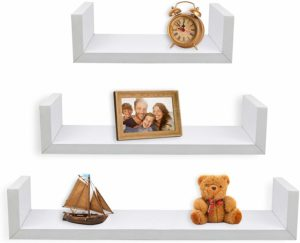 #2 Greenco Set of 3 Floating U Shelves