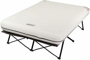 2. Coleman Camping Cot, Folding Air Mattress, and Pump Combo