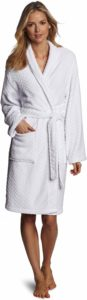 #2.Seven Apparel Spa Hotel Collection Plush Herringbone Textured Robe, Optic White