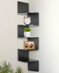 #3 Greenco 5 Tier Wall Mount Corner Shelves