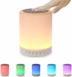 #3. Portable Wireless Night Light with Bluetooth Speaker, Touch