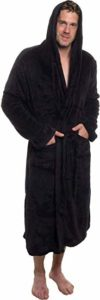 #3. Ross Michaels Men's Plush Hooded Robe