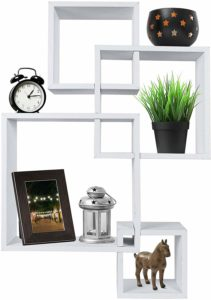 #4 Greenco Decorative 4 Cube Floating Shelves
