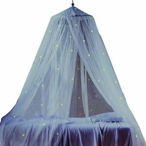 4. Bed Canopy with Fluorescent Stars Glow in Dark