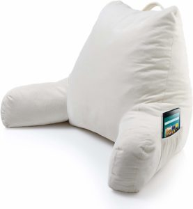 #4. Keen Edge Home Rest Reading Pillow - Shredded Memory Foam