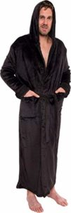 #4. Ross Michaels Hooded Long Robe for Men