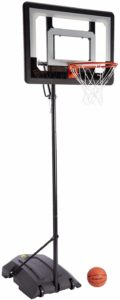 #4. SKLZ Pro Mini Basketball Hoop System, Adjustable-Height Pole, 7-Inch Ball