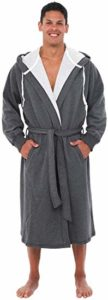 #5. Alexander Del Rossa Warm Sweatshirt Hooded Cotton Robe
