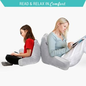 #5. Milliard Reading Pillow, 18x15 inches, Shredded Memory Foam, For Reading