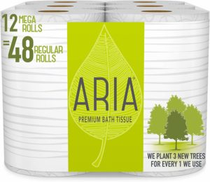 #7. Aria Premium, Earth Friendly and Eco-Friendly Toilet Paper