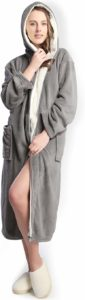 #7. Hooded Women Long Bathrobe, Soft Spa Comfortable Full Length