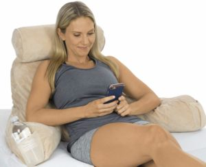 #7. Xtra-Comfort Pillow - Memory Foam Reading Cushion - Back Lumbar, Neck Roll, Arm Support,