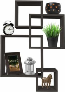 #8 Greenco 4 Cube Intersecting Shelves