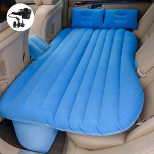 8. Car Travel Back Seat Inflatable blue Air Mattress