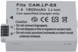 8. Diyeeni Rechargeable Lithium Ion Camera Battery.