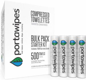 8. Portawipes Compressed 500 Bulk Toilet Paper Tablet Tissues