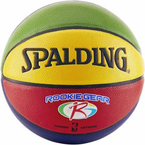 #8. Spalding Rookie Gear Youth Indoor Outdoor Composite 27.5-Inch Basketball