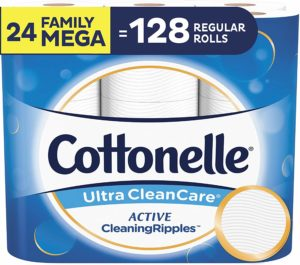 #9. Cottonelle Ultra Clean 24-Pack Care Toilet Paper, Family Mega Rolls