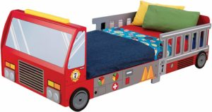 9. KidKraft Fire Truck Toddler Bed