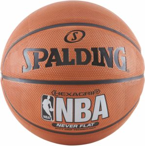 #9. Spalding NBA SGT Neverflat 29.5-inch Hexagrip Basketball