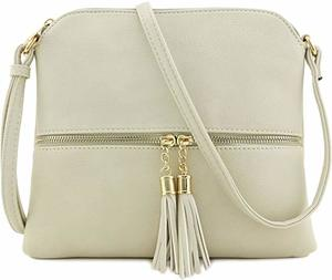 1. Lightweight Medium Crossbody Bag with Tassel