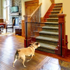 10. Magic Gate for Dogs for House Indoor StairDoorway Use – Black