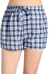 11. Latuza Women's Plaid Sleep Shorts