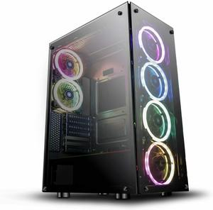 #14. DarkFlash Phantom ATX Mid-Tower Computer Desktop Gaming Case