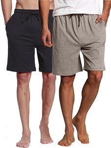 2. CYZ Men's Sleep Shorts - 100% Cotton Knit