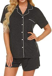 2. Ekouaer Pajamas Set Short Sleeve Pj Lounge Sets XS-XXL(1)