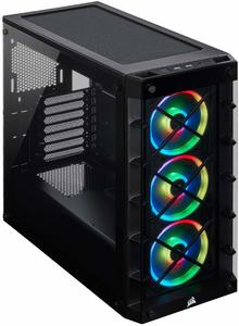 #3. Corsair Icue 465X RGB Black Mid-Tower ATX OC Case, Smart