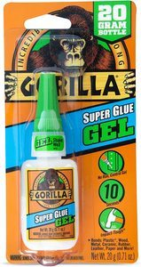 3. Gorilla Super Glue Gel, 20 Gram, Clear, (Pack of 1)
