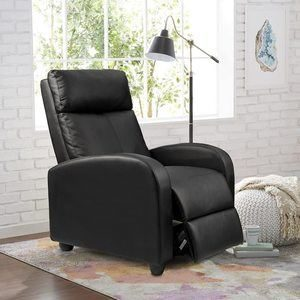 3. Homall Recliner Chair with Padded Seat (Black)