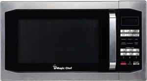 #3. Magic Chef MCM1611ST 1100W Oven, 1.6 cu.ft, Stainless Steel Microwave