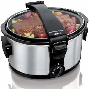 4. Hamilton Beach Portable 7-Quart Slow Cooker