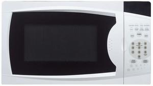 #4. Magic Chef MCM770W 0.7 Cu. Ft. 700W Oven in White Countertop Microwave