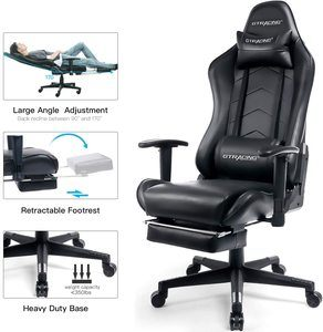 5. GTRACING Gaming Chair with Footrest